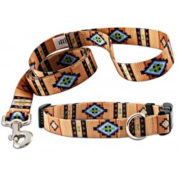 Native Southwestern Deluxe Collar & Leash