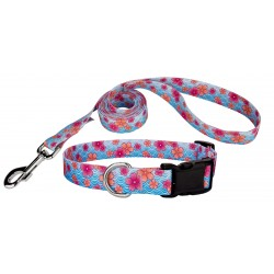 Pink April Blossoms Deluxe Dog Collar & Leash