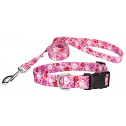 Puppy Love Deluxe Featherweight Dog Collar & Leash - Extra Small