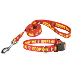 Red Adopt Me Deluxe Dog Collar & Leash - Closeout