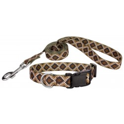 Rattlesnake Deluxe Featherweight Dog Collar & Leash - Extra Small