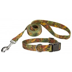 Southern Forest Camo Deluxe Dog Collar & Leash