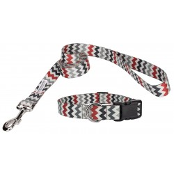 Deluxe Sundry Chevron Featherweight Collar & Leash - Mini
