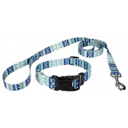 Snowy Pines Deluxe Dog Collar & Leash