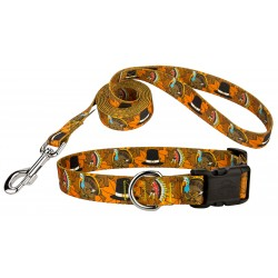 Thanksgiving Tradition Deluxe Dog Collar & Leash
