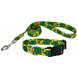 Turtles Deluxe Dog Collar & Leash