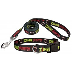 Zombie Hunter Deluxe Dog Collar and Leash