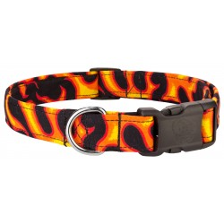 Deluxe Flames Designer Dog Collar