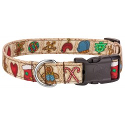 Deluxe Country Christmas Designer Dog Collar