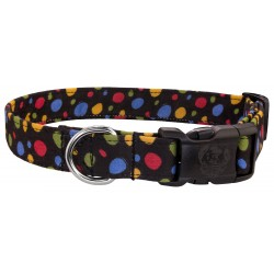 Deluxe Colorful Dots Designer Dog Collar