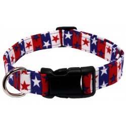 Deluxe American Stars & Stripes Designer Dog Collar - Mini