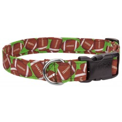 Deluxe Football Mania Designer Dog Collar