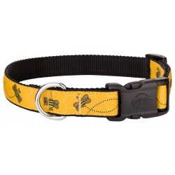 Deluxe Busy Bee Ribbon Dog Collar