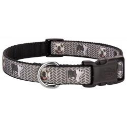Deluxe English Bulldog Tough Guy Ribbon Dog Collar
