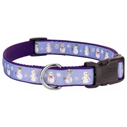 Deluxe Christmas Snowman Ribbon Dog Collar