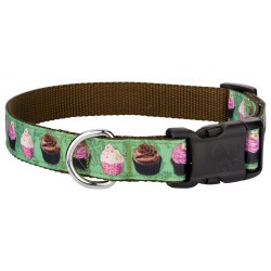Deluxe Lime Cupcakes Ribbon Dog Collar