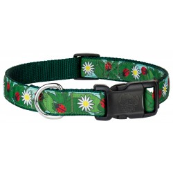 Deluxe Ladybugs Picnic Ribbon Dog Collar