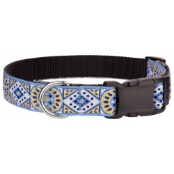 Deluxe Silver & Gold Diamonds Ribbon Dog Collar