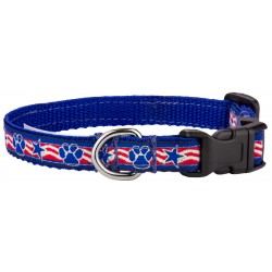 Deluxe Stars and Paws Ribbon Dog Collar