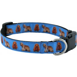 Deluxe Cocker Spaniel Ribbon Dog Collar