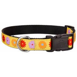 Deluxe Spring Flowers Ribbon Dog Collar