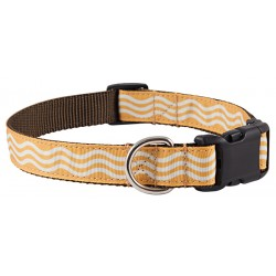 Deluxe Gold Wave Ribbon Dog Collar Limited Edition