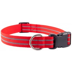 Red Reflective Polyester Dog Collar