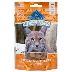 BLUE Wilderness® Soft-Moist Cat Treats Chicken & Turkey