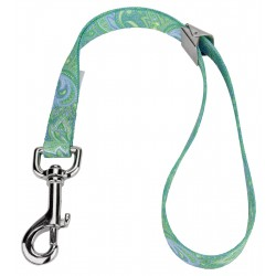 5/8 Inch Green Paisley Spring Loaded Grooming Loop