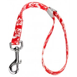 5/8 Inch Red Hawaiian Spring Loaded Grooming Loop