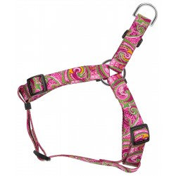 Pink Paisley Featherweight Step-In Dog Harness - Extra Small