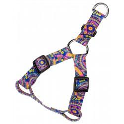 Blue Boho Mandala Step-In Dog Harness