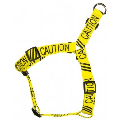 Yellow Caution Step-In Dog Harness