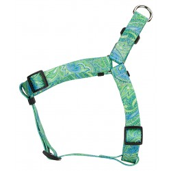 Green Paisley Step-In Dog Harness