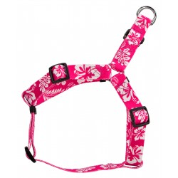 Pink Hawaiian Step-In Dog Harness