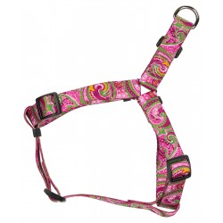 Pink Paisley Step-In Dog Harness