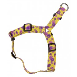 Purple April Blossoms Step-In Dog Harness