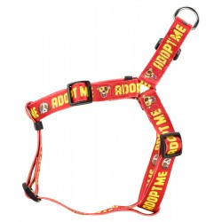 Red Adopt Me Step-In Dog Harness - Closeout