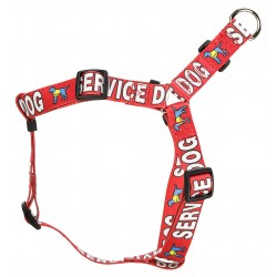 Red Service Step-In Dog Harness