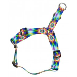 Tie Dye Flowers Step-In Dog Harness