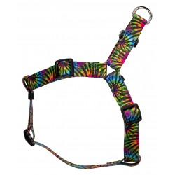 Tie Dye Stripes Step-In Dog Harness