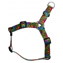 Tie Dye Stripes Step-In Featherweight Dog Harness - Extra Small