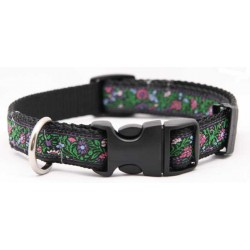Deluxe Vine with Flowers Ribbon Dog Collar