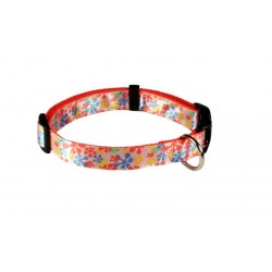 Deluxe Orange Retro Ribbon Dog Collar