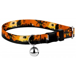 All Hallow's Eve Featherweight Cat Collar