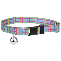 Cool Blue Plaid Featherweight Cat Collar
