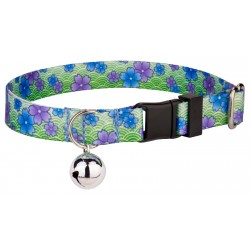 Blue April Blossoms Cat Collar