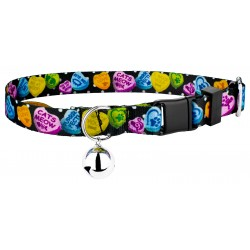 Black Valentine's Candy Cat Collar