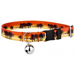 Caribbean Sunset Featherweight Cat Collar