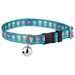 Dapper Skulls Featherweight Cat Collar